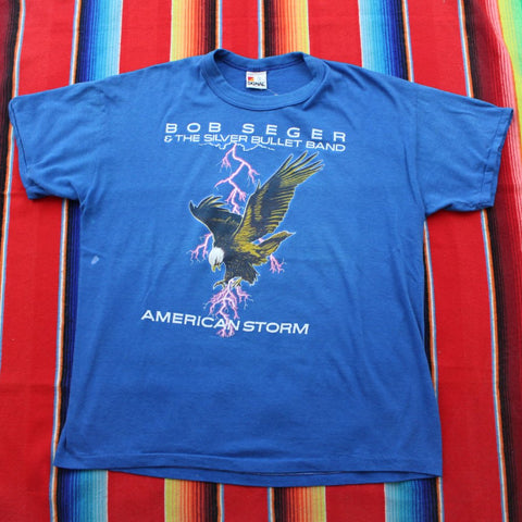 1987 Bob Seger & The Silver Bullet Band American Storm Tour Tshirt - F as in Frank TO