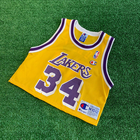 LA Lakers #34 O'Neal Champion Cropped Jersey