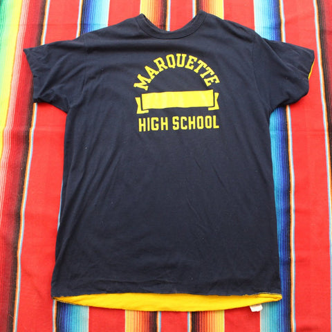1980s Champion Marquette High School Reversible Athletics Tshirt - F as in Frank TO