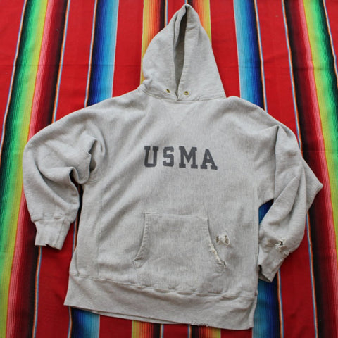 1980s Champion Reverse Weave USMA Hoodie - F as in Frank TO