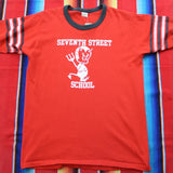 1980s Seventh Street School Devil Tshirt - F as in Frank TO