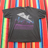 1989 Blackbird Stealth Fighter F117 T-shirt - F as in Frank TO