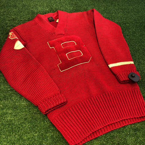 "1940s Knit ""B"" Sweater - F as in Frank TO"