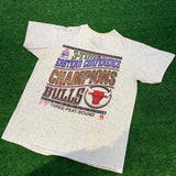 '93 Chicago Bulls 3-Title Eastern Conference Champions Logo 7 T-Shirt - F as in Frank TO