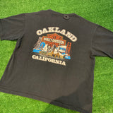 '95 Oakland California Harley Davidson Henley T-Shirt - F as in Frank TO