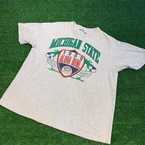 1989 Aloha Bowl Michigan State T-Shirt - F as in Frank TO