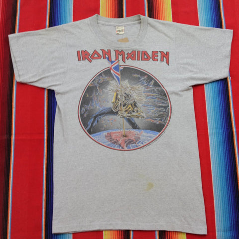 1982 Iron Maiden The Beast on the Road Tour Tshirt - F as in Frank TO