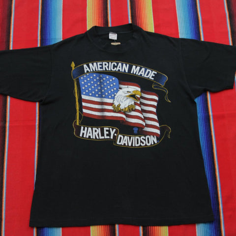 1980s American Made Harley Davidson Tshirt - F as in Frank TO