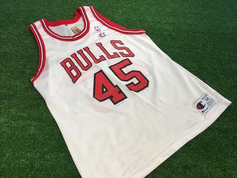 #45 Jordan Chicago Bulls Champion Jersey - F as in Frank TO