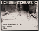 Joseph Beuys. Ulster Museum Belfast, Signed Poster, 1974