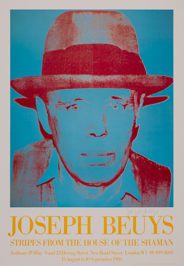 Joseph Beuys, STRIPES FROM THE HOUSE OF THE SHAMAN. - Andy Warhol