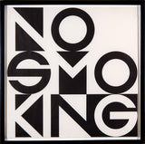 George Brecht, No Smoking - Bromide Print