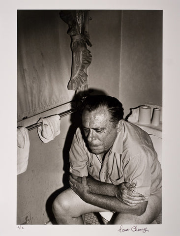 Charles Bukowski in his De Longpre Bathroom 1970 – Photograph by Sam Cherry