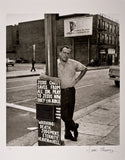 Charles Bukowski (Tour in Skid Row), 1970 – Photograph by Sam Cherry