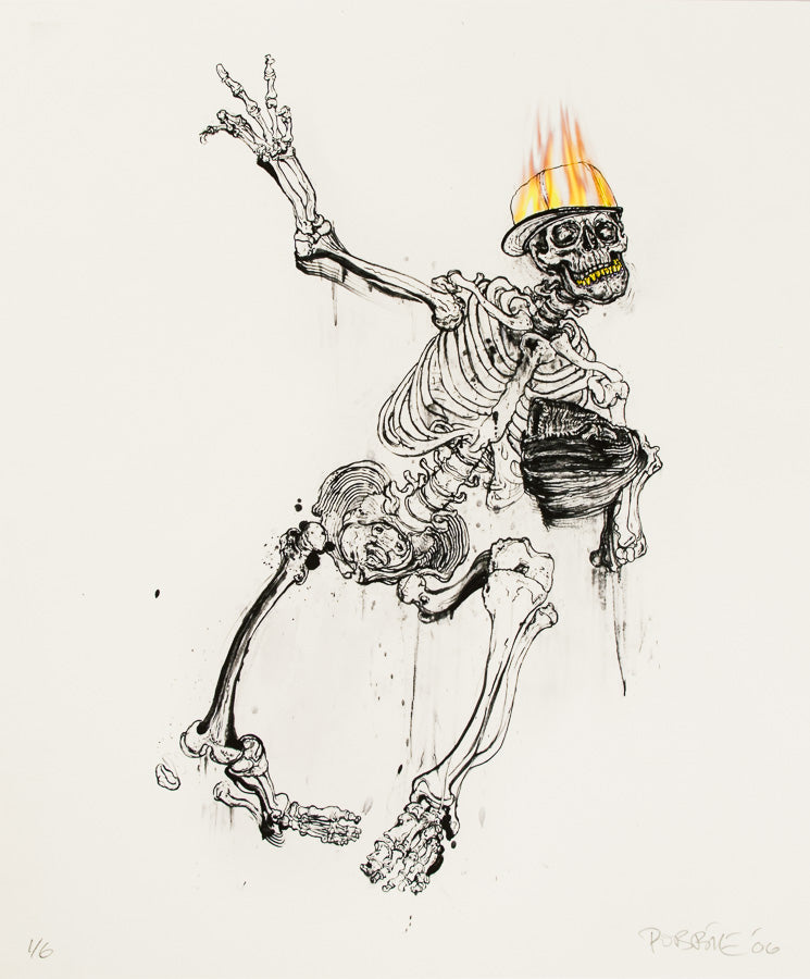 Robbie Conal, Throwing Grillz, Signed print, Ed. 1 of 6, 2006