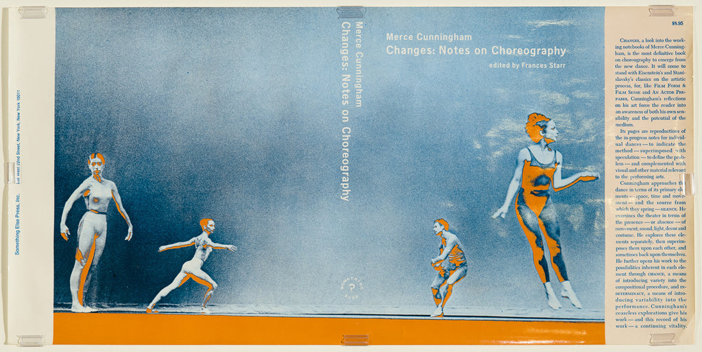 Unfolded Dust Jacket - Changes: Notes on Choreography. Merce Cunningham.
