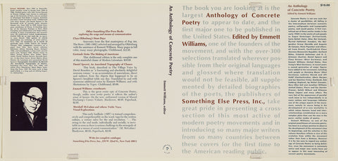 Unfolded Dust Jacket - An Anthology of Concrete Poetry. Edited by Emmett Williams