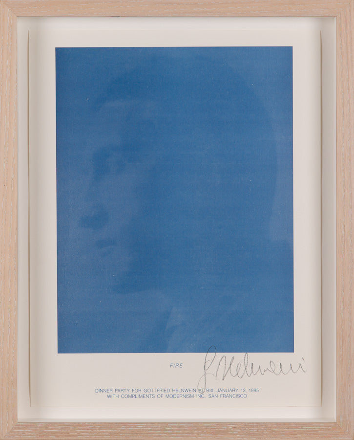 Gottfried Helnwein, Fire (Marcel Duchamp) - Lithograph