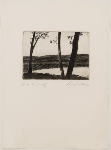 John Register, Untitled (Grape Vines) - Etching