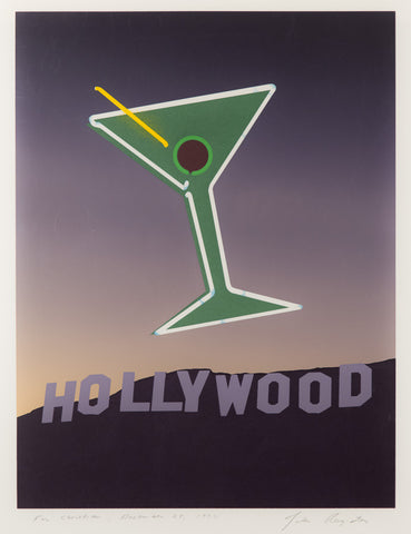 "John Register Silkscreen Print for Bukowski's ""Hollywood"" 1989"