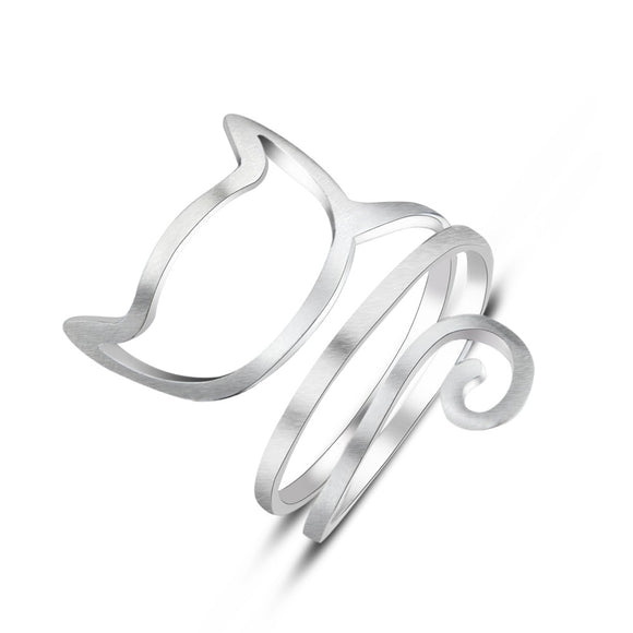 Zenzatas-Spiral Cat Ring