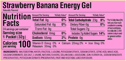 GU Gels Strawberry/Banana Individual