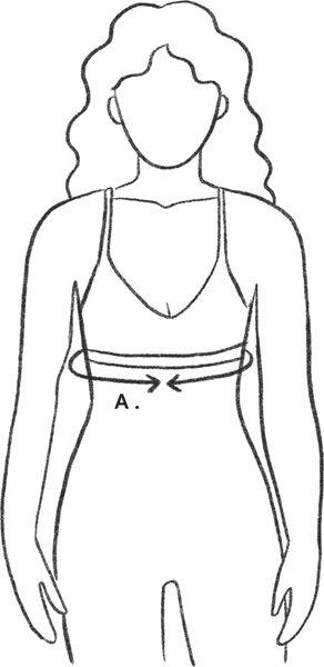 bra size guide illustration