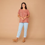 Organic Cotton Fleur Blouse - Couverture Check Small