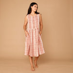 Organic Cotton Juno Dress - Couverture Check Large
