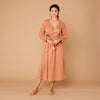 Organic Cotton Suki Semi Wrap Dress - Sunset Clay