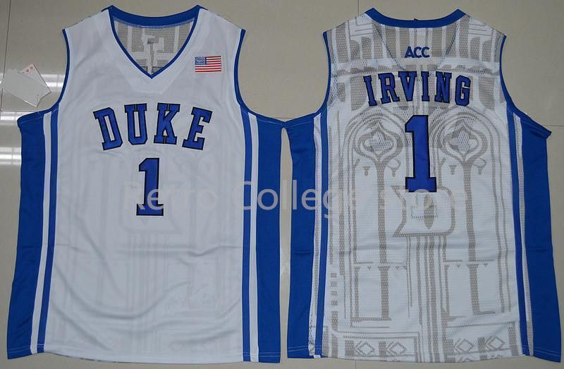 newest acaa0 5b805 ...  1 kyrie irving jersey Duke Blue Devils Throwback Jers Retro Basketball  Jersey New Material Top ...