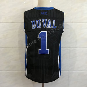 f8a529e2d6bb  1 Trevon Duval Duke Blue Devils White College Throwback Basketball Jersey  Stitched S-XXL