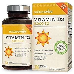 NatureWise Vitamin D3 5,000 IU for Muscle & Immune Support