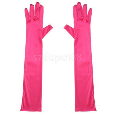 1 Pair Fashion Woman Satin Arm Elbow Long Gloves Wedding Bridal Evening Party Prom Opera Costume