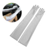 1pair Women Lady Arm Finger Long Elbow Gloves Party Prom Satin Gloves