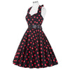 2017 Women Polka Dot Dress Big Swing Vestidos Retro Robe Casual Prom Rockabilly Party Dress 50s 60s Pinup Vintage Dresses