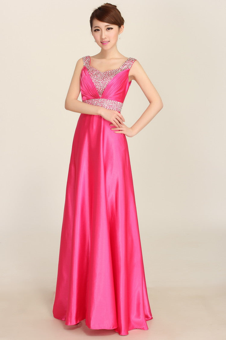 2018 New Fashion Woman Prom Dresses Long Sequnied Satin In Stock ...