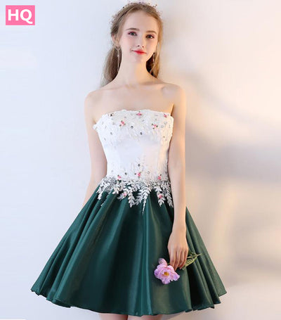 A-line Sleeveless Lace Applique Beading Banquet Party Gown Evening Dress