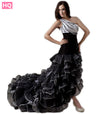 Black White High Low Prom Dress
