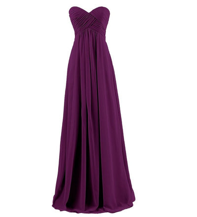 Bridal Ball gown Strapless plus size pink purple Long bridesmaids dresses wedding party prom toast dress 2018 wholesale custom