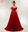 Burgundy Prom Dress 2018 Off the Shoulder Ball Gown