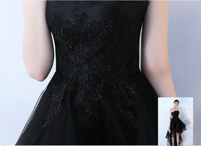 Elegant Black Prom Dresses 2018 New Sexy Strapless Lace-Up Beach Built-In Bra