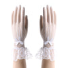Elegant Women Lady Lace Gloves Cat Bowknot Party Prom Bride Wrist Mitten