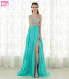 Fantastic Crystal Top Long Prom Dress Robe De Soiree Sexy Open Back