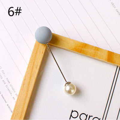 Fashion 1Pc Woman/Girl Imitation Pearl Brooch Classic Charm High Quality Accessories Simple Double Pearls Brooches All-match