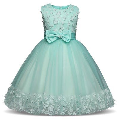 Flowers Tutu Dresses For Girl Party Dress Little Princess Girl Prom Gown Christmas Festival Costume For Kids Children's Clothing