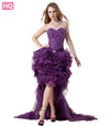 Hi Low Purple Prom Dress