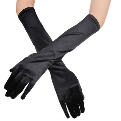 High Recommend Womens Satin Long Gloves Opera Party Prom Costume Gloves fitness gloves handschoenen eldiven