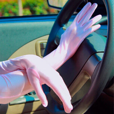 Hot Women Sun Driving Gloves Mittens Party Prom Long Elbow Glove 6 Colors P6Y