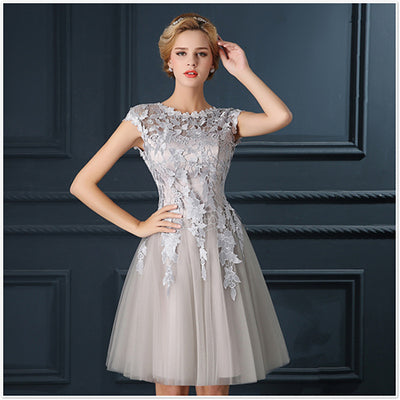Elegant A-Line Red Prom Dress Gown Formal Party Dresses